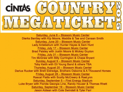 concerts country megaticket information