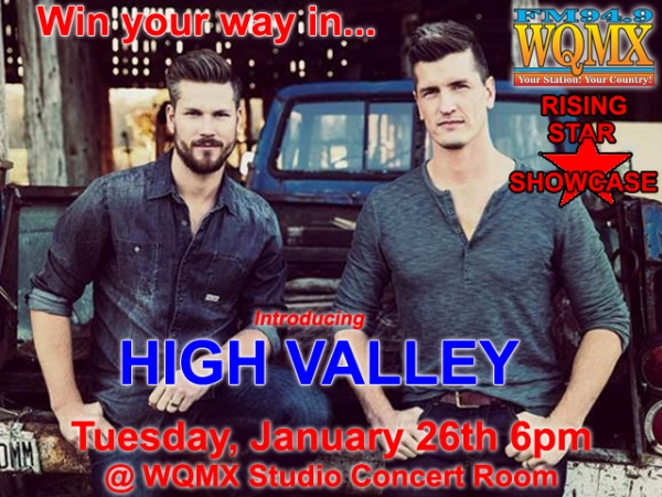 WQMX Rising Star Showcase with High Valley