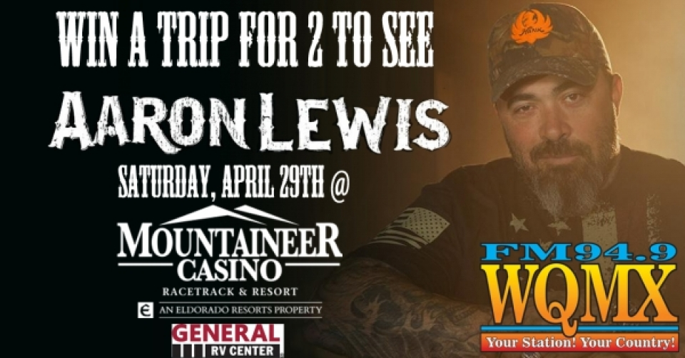 Win a Trip to see Aaron Lewis at Mountaineer
