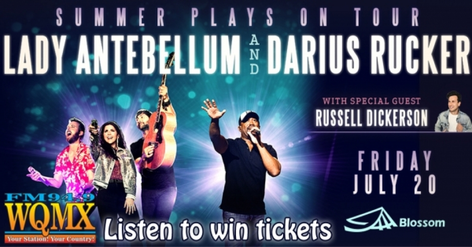 Win tickets to Lady Antebellum & Darius Rucker