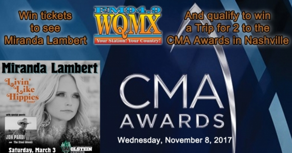 Win tickets to see Miranda & CMA Awards in Nashville
