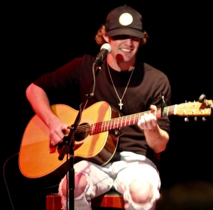 Tucker Beathard performs at a WQMX Charity Concert