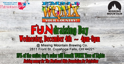 WQMX Tree of Lights FUNdraising Day at Missing Mountain Brewing Co. 2019