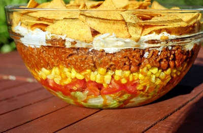 7 Layer Taco Bean Dip- My Must Have for the Big Game!!