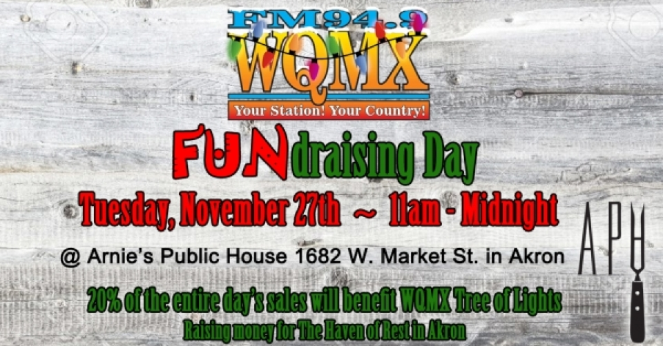 WQMX Tree of Lights FUNdraising Day at Arnie's Public House