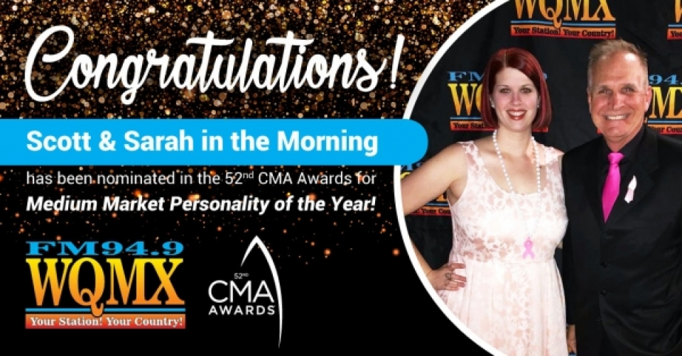 CMA Nominated Personality of the Year - Scott & Sarah in the Morning