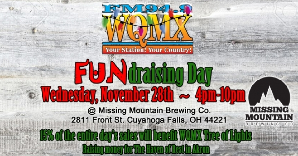 WQMX Tree of Lights FUNdraising Day at Missing Mountain Brewing Co.